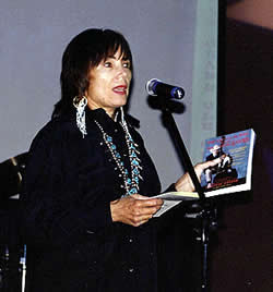Joan Carol promoting Cliffie's book